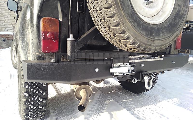 Бампер задний на УАЗ Хантер с калиткой